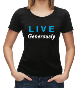Live Generously t-shirt