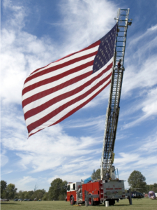 American Flag Firetruck